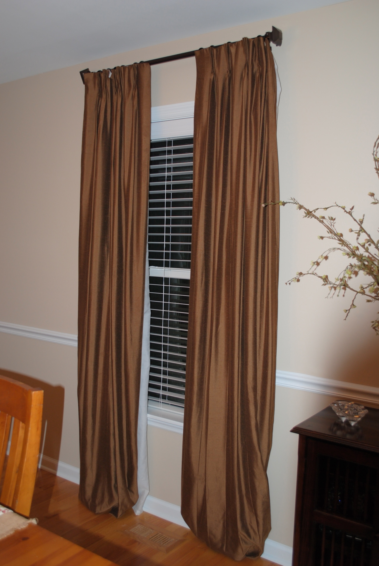 Tip for Hanging Curtains and More Before  After  going home
