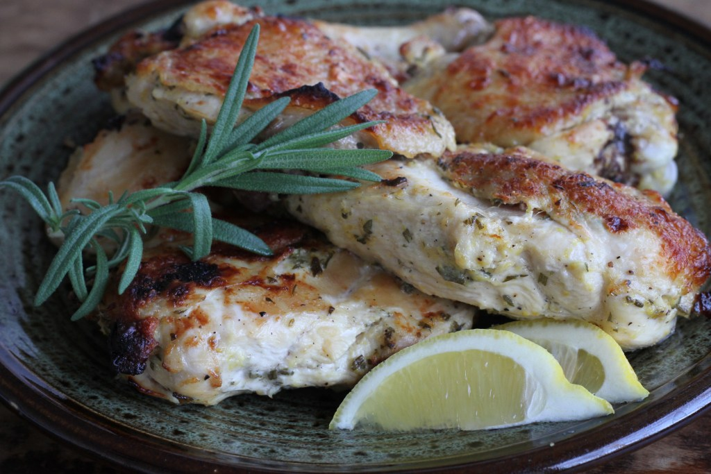 Grilled Three Lemon Chicken W/Roasted Garlic | Brittany's Pantry