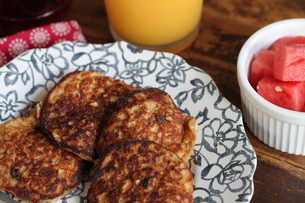 Healthy Oatmeal Pancakes | Brittany's Pantry