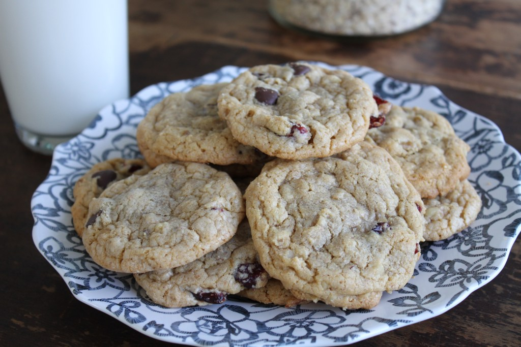 Healthy Cran-Oat Chocolate Chip Cookies by Brittany's Pantry
