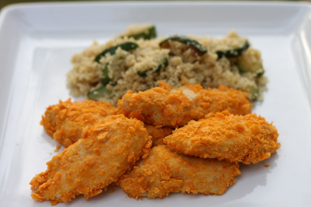 Cheeze-It-Chicken is done in minutes, and well...lets face it.  Its awesome. {Brittany's Pantry}