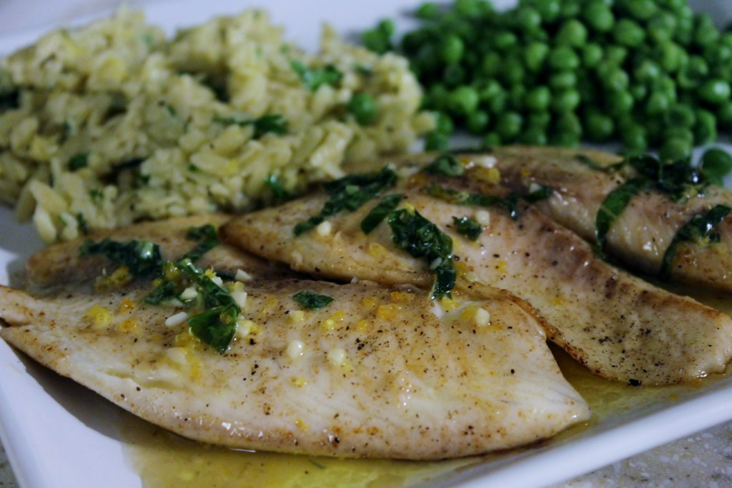 Tilapia W/Citrus Sauce is easy and FULL of flavor! A fine, healthy dinner! {Brittany's Pantry}
