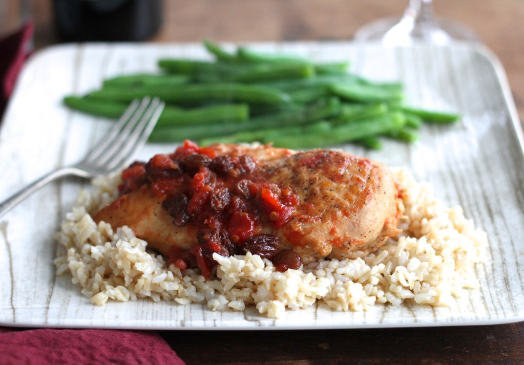 Chicken W/Zesty Raisin Sauce