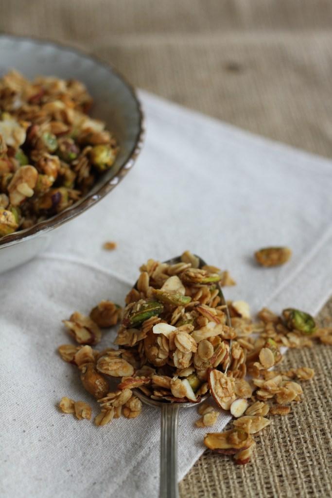 Pistachio Granola|Brittany's Pantry