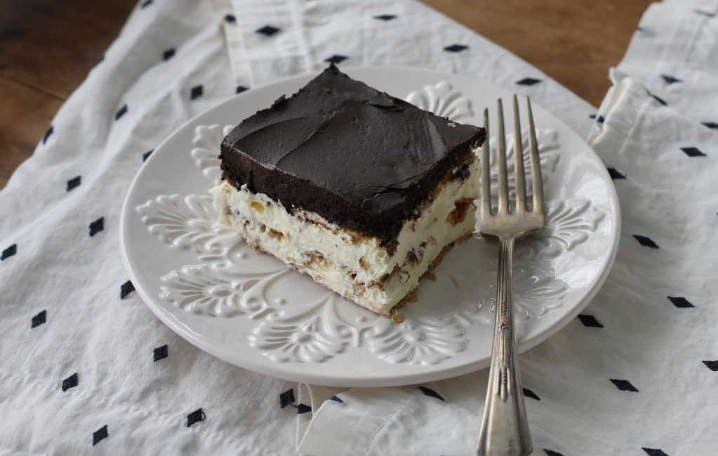 Easy Chocolate Eclair Dessert-A spectacular, no bake treat! | Brittany's Pantry
