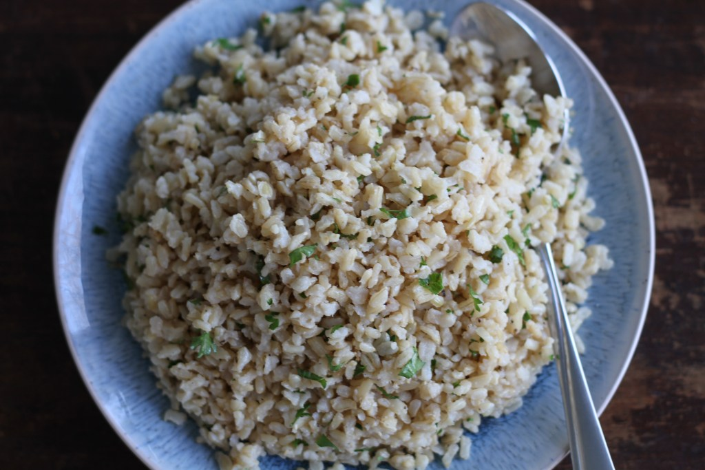 Easy Baked Brown Rice is a fail safe, hands off side you will be making again and again! {Brittany's Pantry}