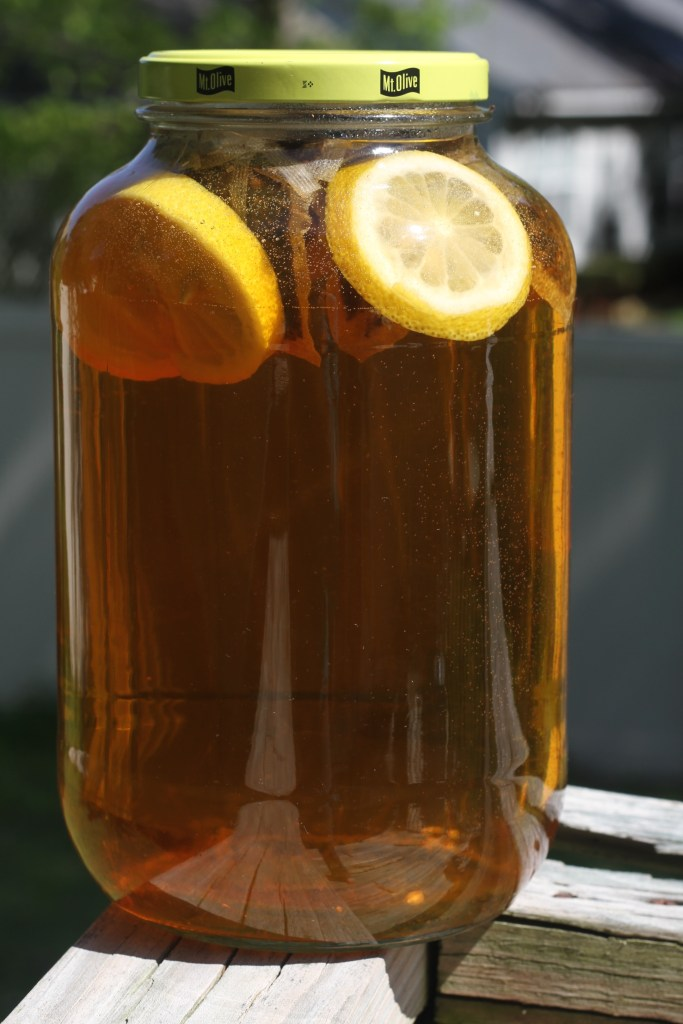 Sweet Citrus Sun Tea is super easy and so much fun for summertime! {Brittany's Pantry}