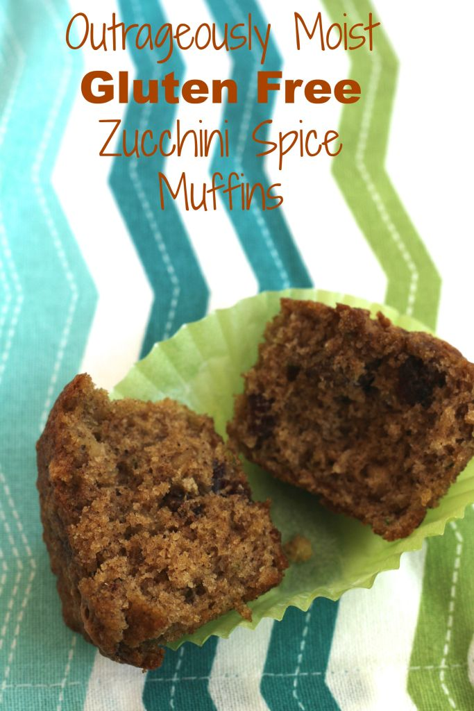 The Ultimate Gluten Free Zucchini Spice Muffins W/Walnuts & Cranberries via Brittany's Pantry