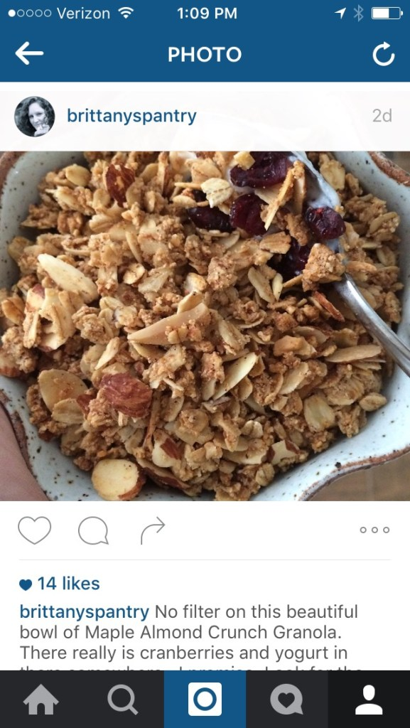 Maple-Almond-Granola