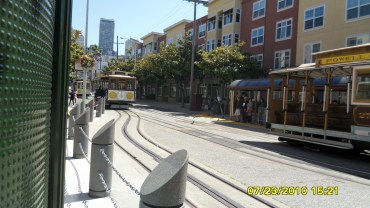 another cable car coming in