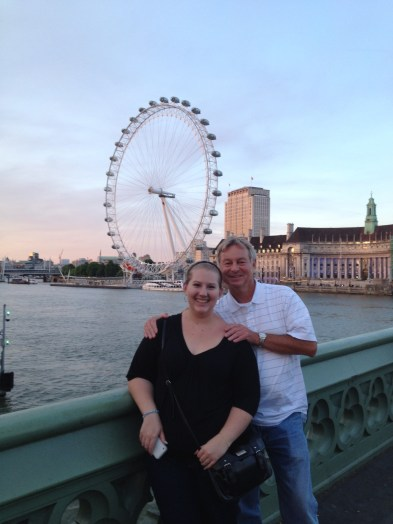 dad and I in front of the London Eye