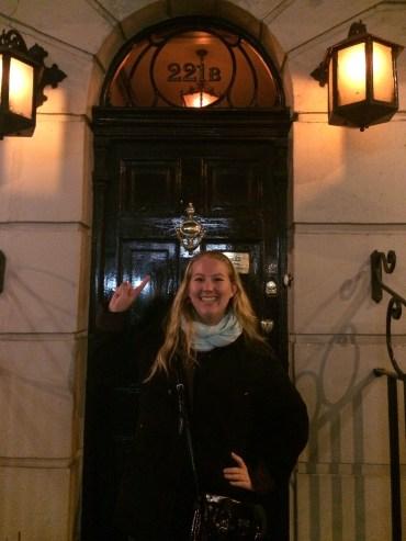 in front of 221b Baker Street