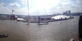 view from the Emirates Air Line