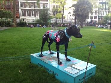 cool dog statue