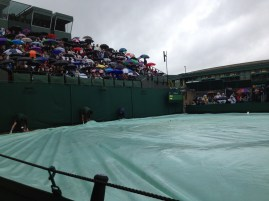 court covered during rain delay