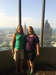 mom and I at the top of the Westin