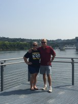 dad and I by the Tennessee River