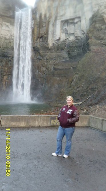 me in front of the big waterfall