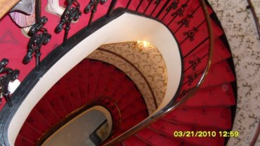 staircase at Heinz Hall