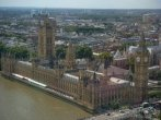 looking down at Big Ben and the Houses of Parliment