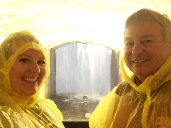 Dad and I at the Journey Behind the Falls