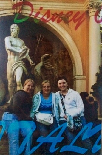Taylor, Sam, and I in Italy