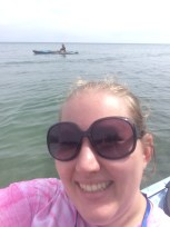 Dad and I kayaking
