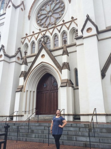 me in front of the Cathedral