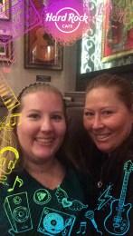 Mom and I at the Hard Rock Cafe