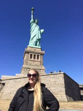 me in front of the Statue of Liberty