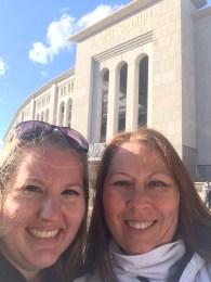 mom and I at Yankee Stadium
