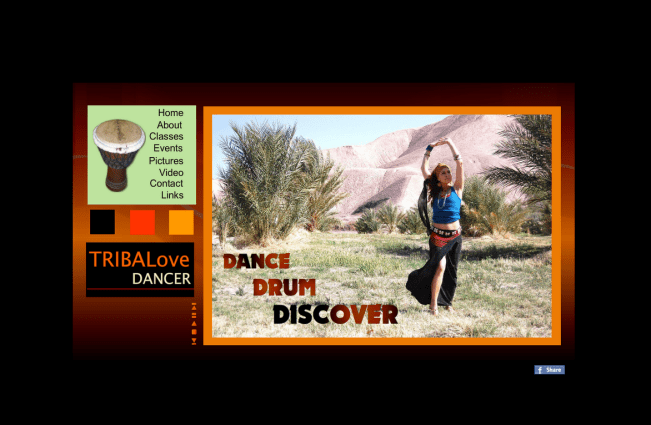 Design, Flash and HTML: tribalovedancer.com