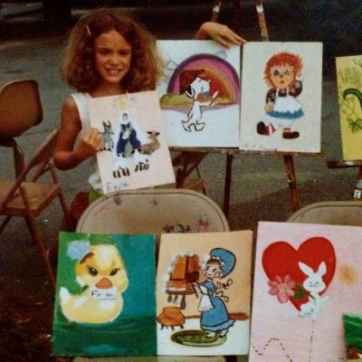 Selling paintings at eight years old