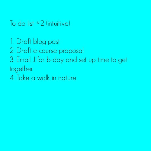To do list two