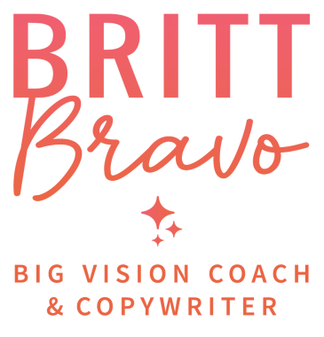 Britt Bravo Big Vision Coach and Copywriter logo