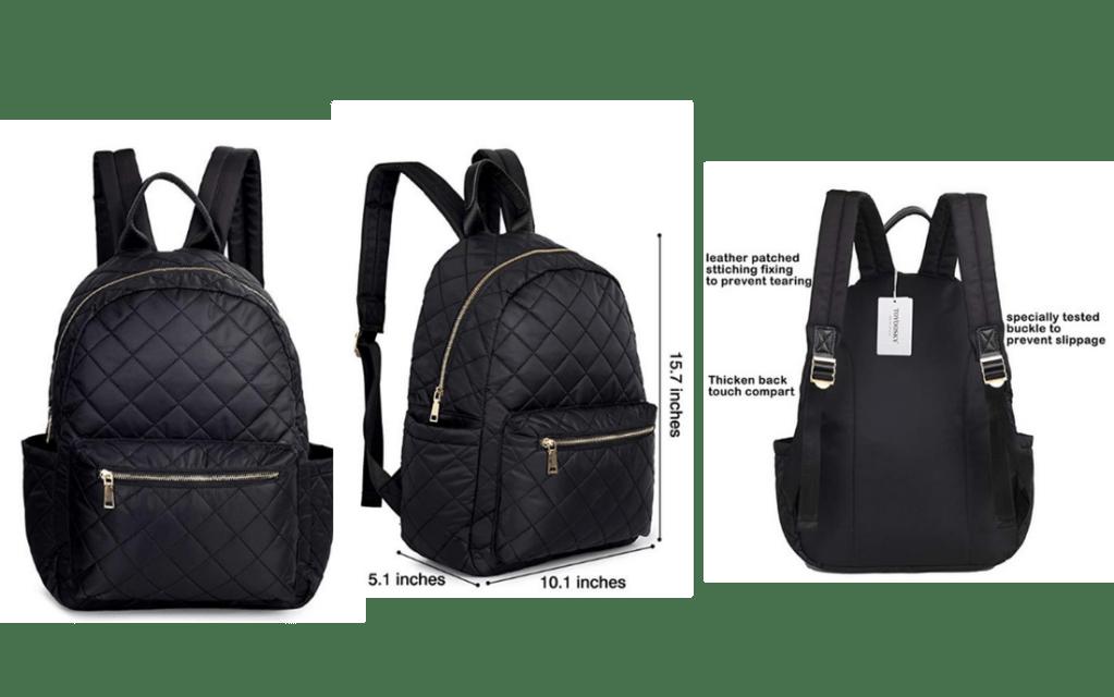 Black Lightweight TOYOOSKY Back-to-School Backpack