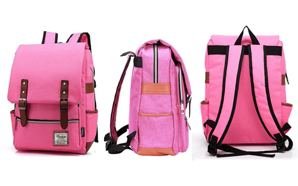 Pink Durable Feskin Back-to-School Backpack