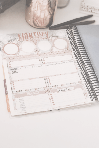 How I Use My Erin Condren Monthly Deluxe Planner — Notes Page