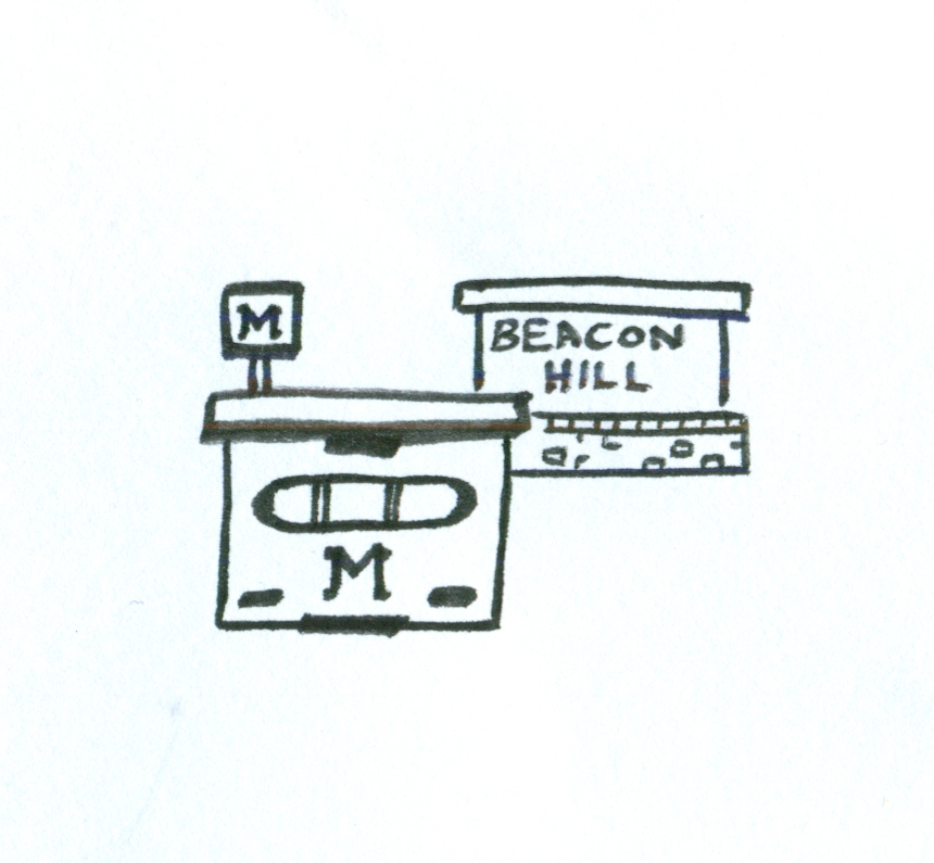 An isolated part of the map of Beacon Hill School.