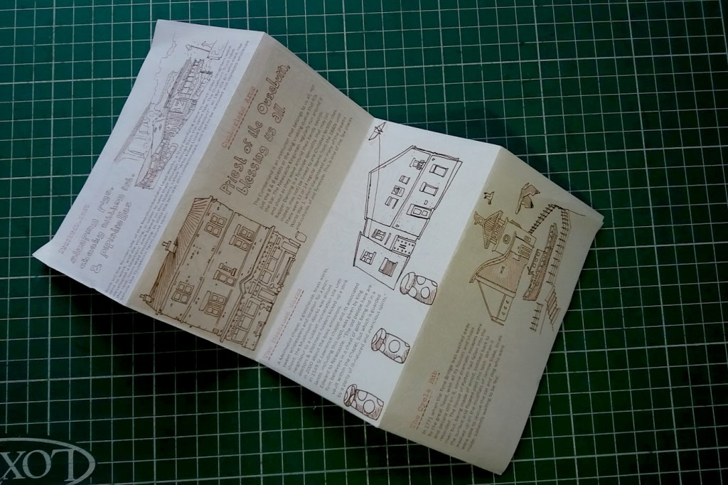A photo of the unfolded Ouseburn Late Shows zine.