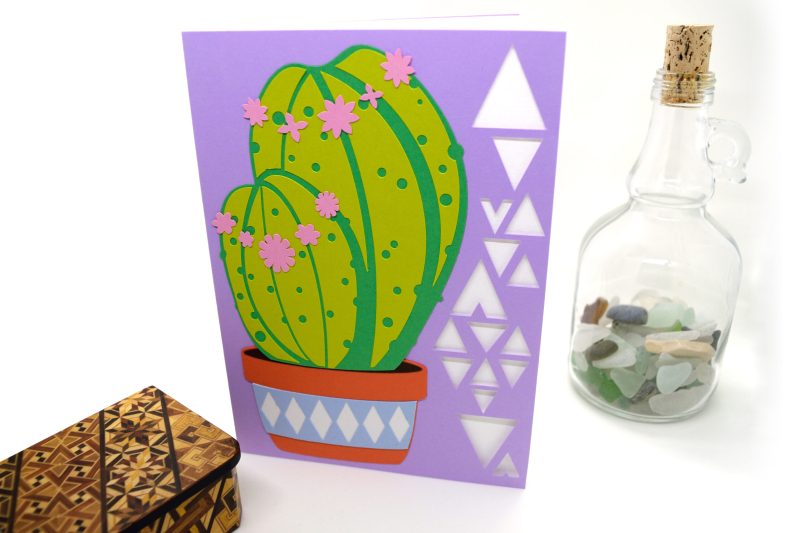 Cactus Card in lilac
