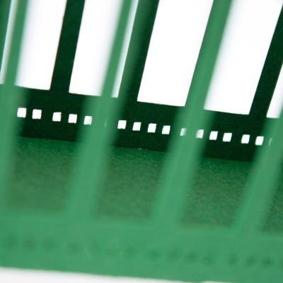 Tyne Bridge Activity Kit using green and tan card, close up on bridge construction.