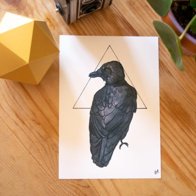 Crow Print on display