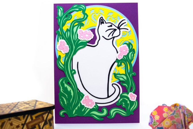 Art Nouveau Cat Card