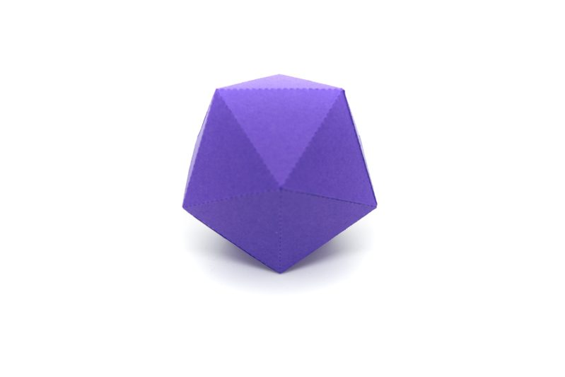 Platonic Solids colourful 3d paper activity kit icosahedron