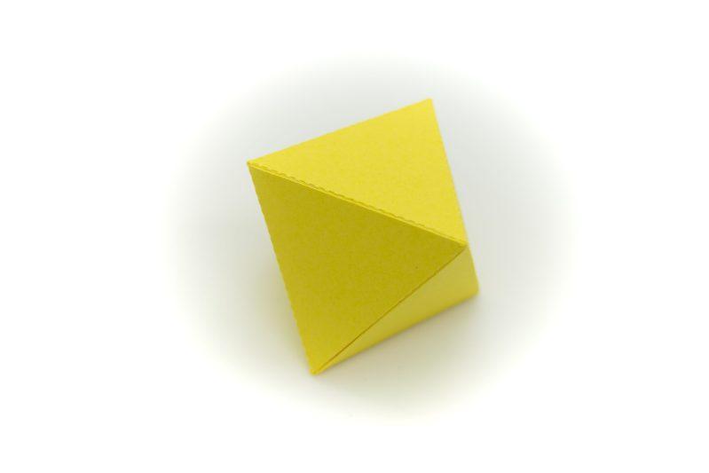 Platonic Solids colourful 3d paper activity kit octahedron
