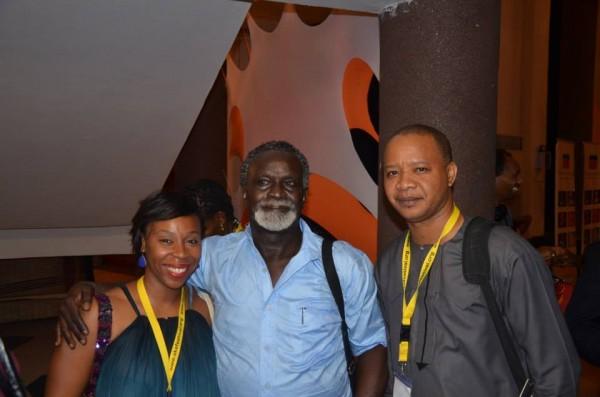 (R-L) Ugoma Adegoke, Syl Cheney-Coker, Victor Ehikhamenor