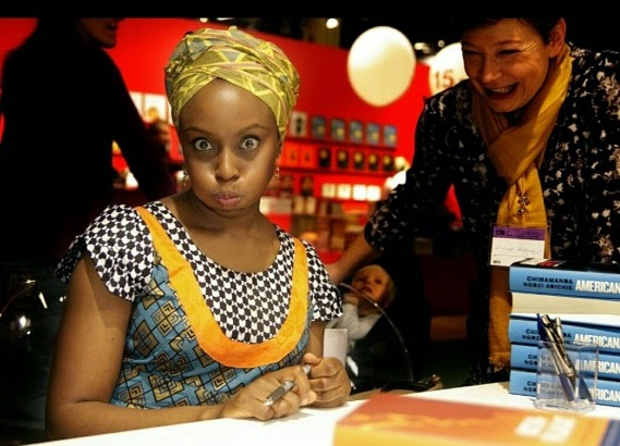 adichie-silly-face