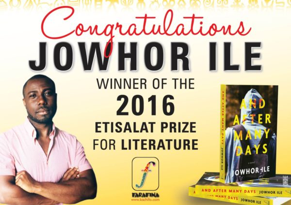 Jowhor Ile is the First Nigerian to Win the Etisalat Prize for Literature