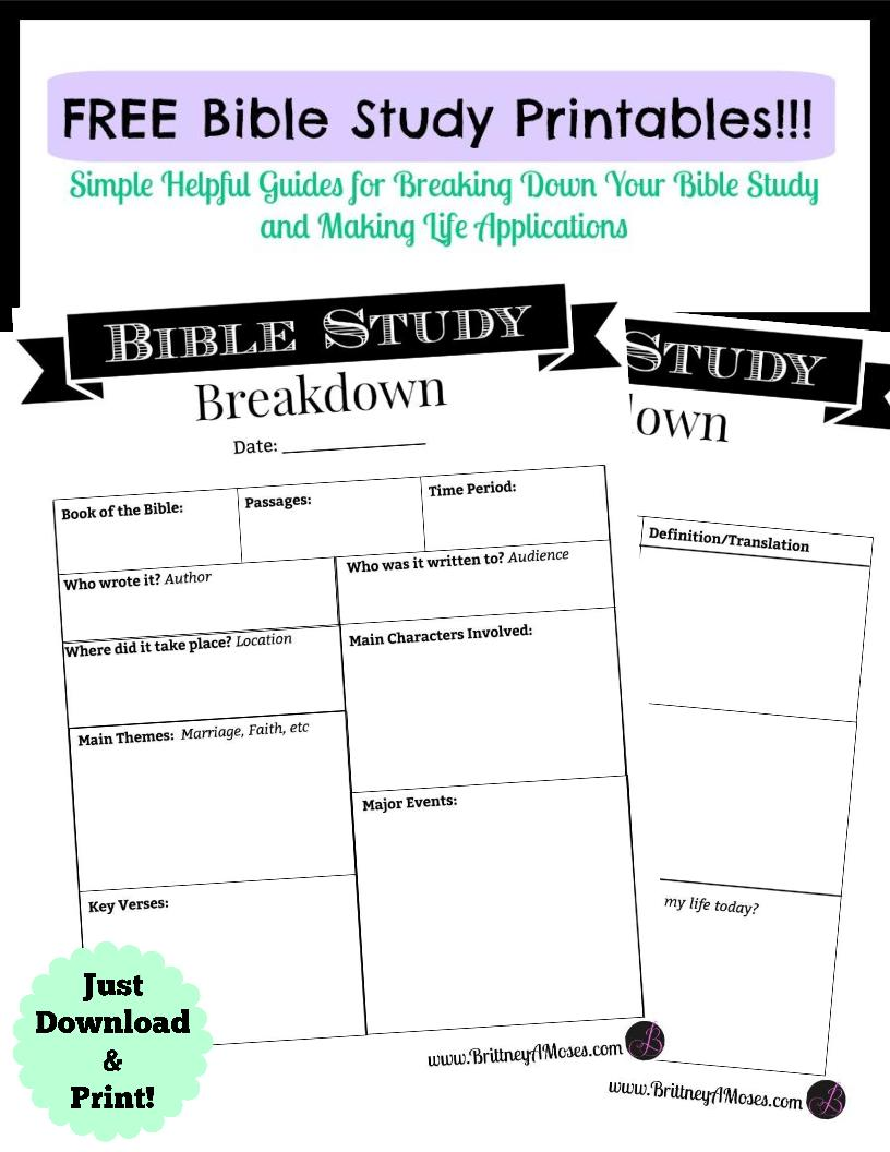 Worksheets Free Bible Study Worksheets printable bible study guide brittney moses have your free sent to inbox immediately